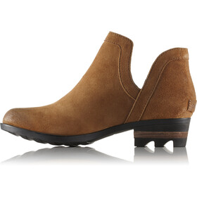 Sorel Lolla Cut Out Booties Women Camel Brown/Black